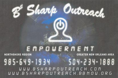 empowerment, b sharp outreach ministries, ministry, love in new orleans, hurricane katrina, be loved, help is on the way, come to us for help, the wall